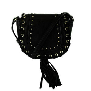 INC CONCEPTS Black  Leather Crossbody Bag$60.00